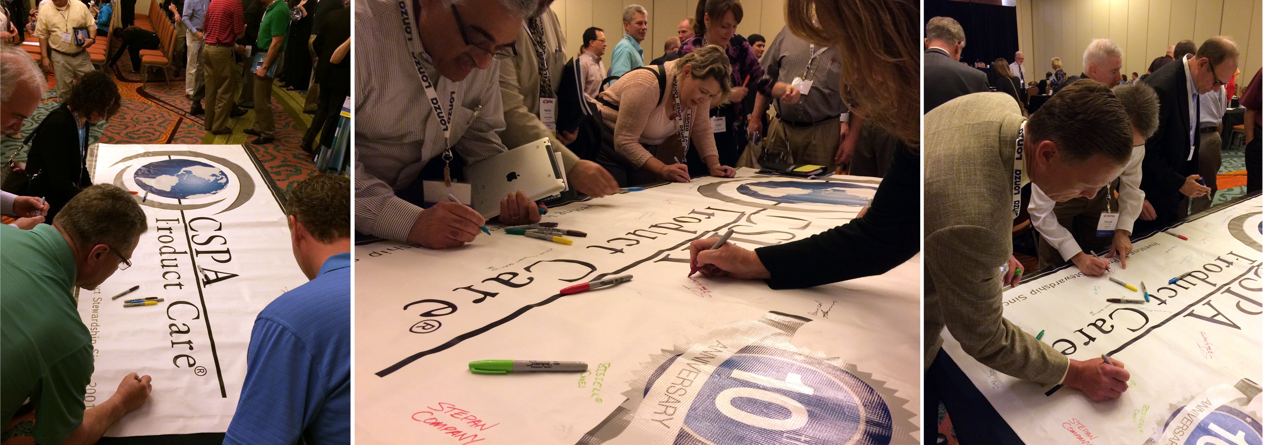 HCPA Member Companies Signing The Product Care Banner